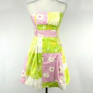 Lilly Pulitzer Strapless Floral Print Dress